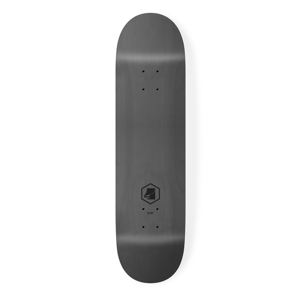 the 4 skateboard company hex lazer series skateboard deck black