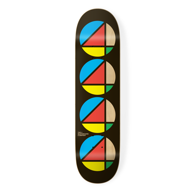 the 4 skateboard company repeat series black skateboard deck