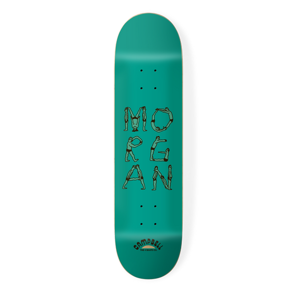 the 4 skateboard company human alphabet pro board series morgan campbell deck