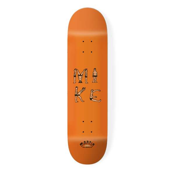 the 4 skateboard company human alphabet pro board series mike martin
