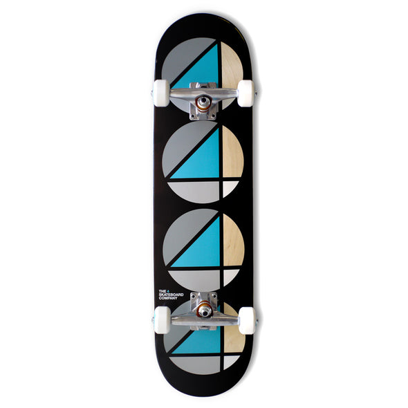 the 4 skateboard company complete board teal black