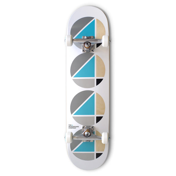 the 4 skateboard company complete board teal white