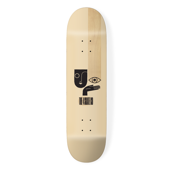 the 4 skateboard company watching series skateboard deck cream designed by louie dodd