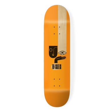 the 4 skateboard company watching series skateboard deck orange designed by louie dodd