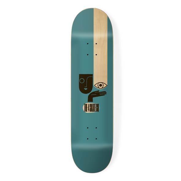 the 4 skateboard company watching series skateboard deck teal designed by louie dodd