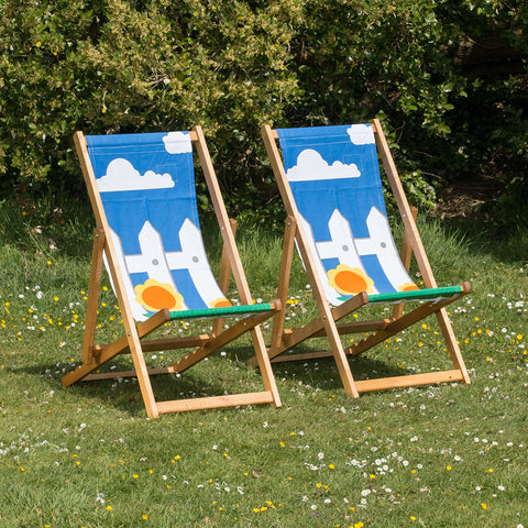Hardwood Deckchairs - Picket Fence