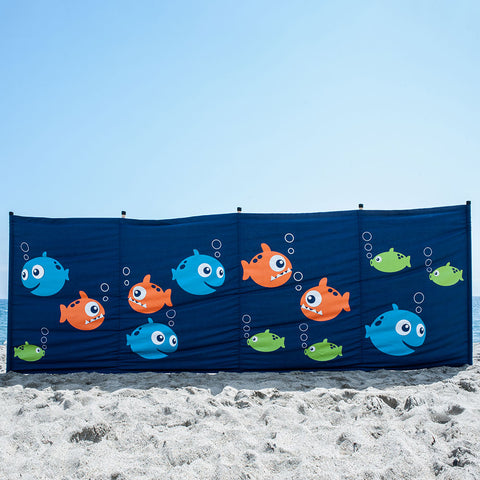 Cotton Canvas Windbreak- Fishes