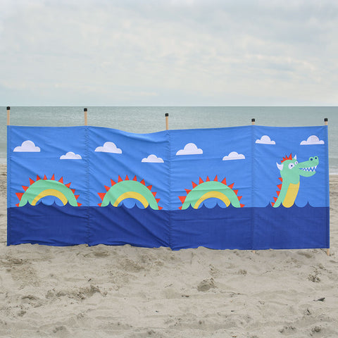Cotton Canvas Windbreak- Little Sea Monster