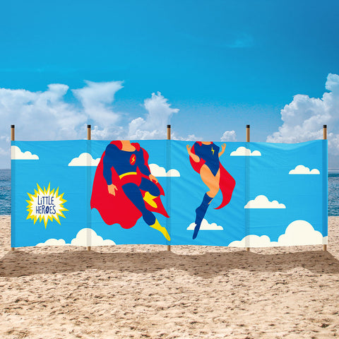 Cotton Canvas Windbreak- Superhero