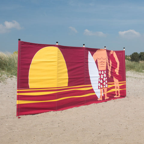 Surfers windbreak