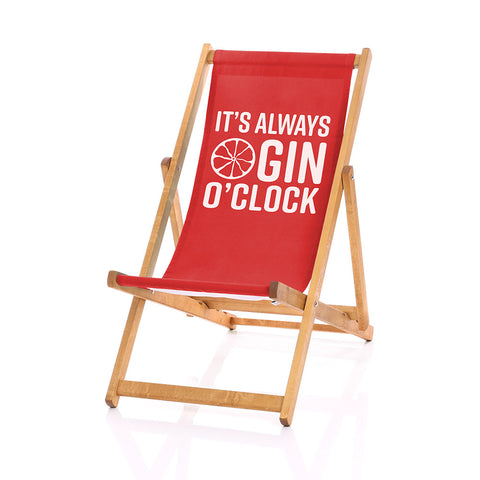 Gin deckchair red