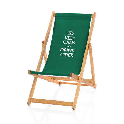 Hardwood Deckchairs - Keep Calm and Drink Cider