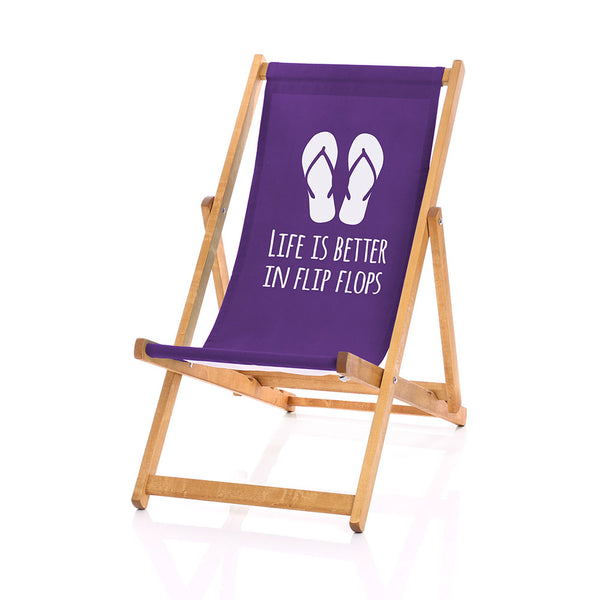 Flip-flops deckchair purple