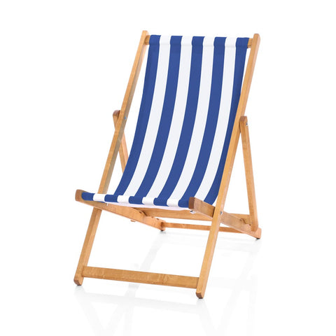 Hardwood Deckchairs - Striped