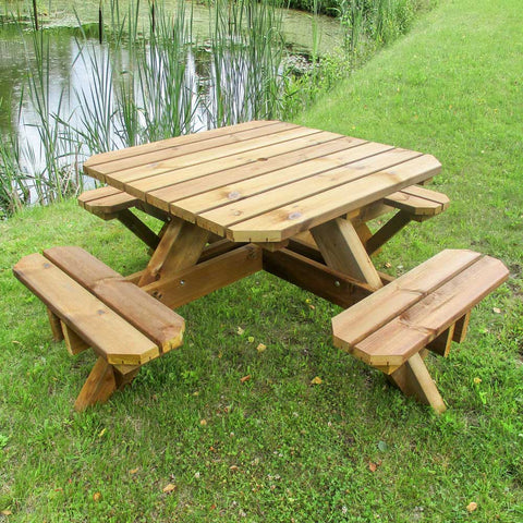 Heavy Duty Square Picnic Table