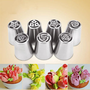 1PCS Russian Nozzles Icing Piping Tips Stainless Steel Nozzles Cake Decorating Tools Nozzles Pastry Kitchen Accessories Tools