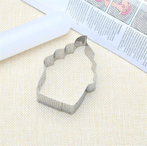 Cupcake Ice Cream Cookie Stencils Pancake Biscuit Cookie Cutter Tools Baking Pastry Modelling Tools Stainless Steel Top Shop