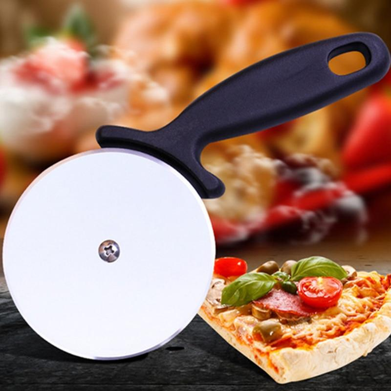 1 pc Stainless Steel Pizza Cutter Round Shape Pizza Wheels Cutters Cake Bread Round Knife Cutter Pizza Tools