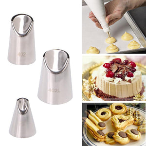 3Pcs Stainless Steel Flower Tips Nozzle Cake Cream Pastry Icing Decorating DIY