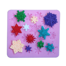 Load image into Gallery viewer, 3D Christmas Snowflake Shape Silicone Molds Fondant Cookie Mold Candy Cake Decorating Moulds Kitchen Baking Tool Cake Decoration
