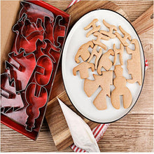 Load image into Gallery viewer, 8pcs/set Stainless Steel 3D Christmas Cookie Cutters Cake Cookie Mold Fondant Cutter DIY Baking Tools