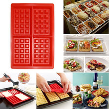Load image into Gallery viewer, Silicone 4-Cavity Waffles Cake Chocolate Mold Donut Maker Fondant Baking Molds Cake Decorating Waffles cake Mould Pan