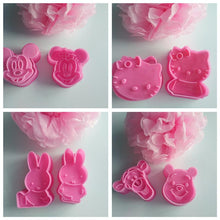 Load image into Gallery viewer, 2Pcs/Set Hello Kitty Mickey Shape Cookie Mould Plastic Sugar Fondant Cake Mold Biscuit Cookie Cutters Cookie Tools
