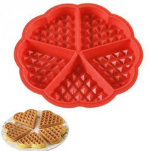 Load image into Gallery viewer, New Home Kitchen Supplies Heart Shaped Silicone Waffle Mold Maker Pan Microwave Baking Cookie Cake Muffin Bakeware Cooking Tool