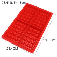 Load image into Gallery viewer, Non-stick Silicone Waffle Mold Kitchen Bakeware Cake Mould Makers for Oven High-temperature Baking Set