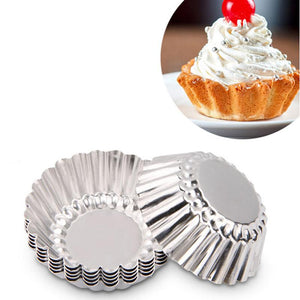 10pcs  7cm Muffin Cupcake Silicone Cups Round For Muffin Cupcake DIY Baking Fondant Muffin Cake Cups Molds