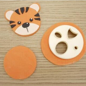 DIY Plastic Animal Face Cake Decorating Fondant Cutters Cake Decoration Tools Cookie Biscuit Cake Mold Baking Accessories