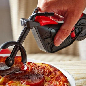 1Pc Motorcycle Stainless Steel Pizza Knife Pizza Wheel Cutter Motorbike Roller Chopper Slicer Peel Knives Kitchen Tools