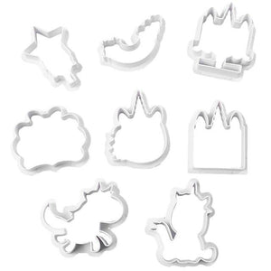 8pcs/set Creative Unicorn Cookie Cutter DIY Fondant Chocolate Cake Embossing Stencil Mold Biscuit Cute Mold Baking Tool