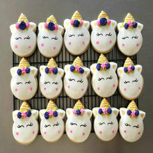 Load image into Gallery viewer, KENIAO Unicorn Face Cookie Cutter for Kids Birthday Party Cutters - Biscuit / Fondant / Pastry / Bread Cutter - Stainless Steel