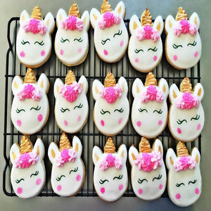 KENIAO Unicorn Face Cookie Cutter for Kids Birthday Party Cutters - Biscuit / Fondant / Pastry / Bread Cutter - Stainless Steel