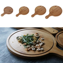 Load image into Gallery viewer, Durable Round Wooden Pizza Paddle Serving Board Making Peel Cutting Tray 4 Sizes 6/7/8/9 inches