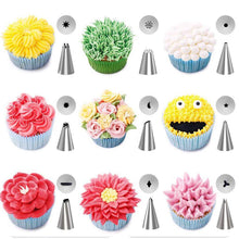 Load image into Gallery viewer, 32-Piece Cake Decorating Supplies Tips Kits Penholder Cleanser Brush With Scissors For Mounting Pen Brush For Cream Bag