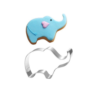 Stainless Steel Cookie Mold Elephant Shape Cake Fondant Mold Cookie Cutter Kitchen Accessories Cookie Tools Cupcake Decorator