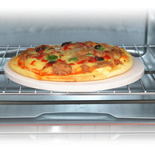 "Load image into Gallery viewer, 10"" Kitchen Pizza Stone Baking Oven  Bread Tray For Indoor Oven Outdoor BBQ Grill"