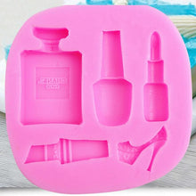 Load image into Gallery viewer, Silicone Makeup Lipstick Cake Decorating Mould Sugarcraft Chocolate Baking Mold Kitchen Accessories