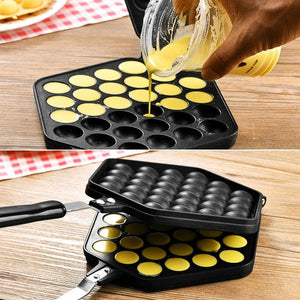 DIY Household Egg Waffle Cake Mold Puff Pan Mold Nonstick Double Side Biscuits Muffin Mould Pot Bakeware Baking Tools