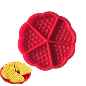 5 Heart Shape Family Silicone Waffle Mold Microwave Baking Cookie Cake Muffin Bakeware Cooking Tools Kitchen Accessories
