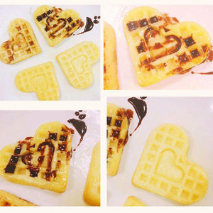 1 pcs 4-Hold Heart Shape Waffle Mold Food Grade Silicone Muffin Cake Mold Cake Decorating Tools