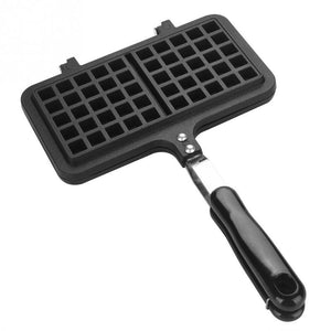 Household Kitchen Gas Non-Stick Waffle Maker Pan Waffle Baking Mold Dual Head  Mould Mold Press Plate Baking Tool
