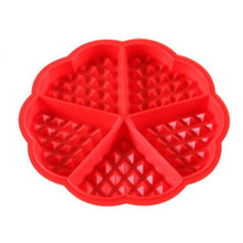 Load image into Gallery viewer, New 4-Cavity Waffle Mold Shape Food Grade Plastic,Cake Chocolate Pan, Silicone Mold Baking Mould Kitchen Bakeware Decorationg