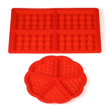 Load image into Gallery viewer, Grid Silicone Waffle Mould Mold Pudding Jelly Chocolate Waffle Mould Mold Tray Baking Tool Round + Rectangle