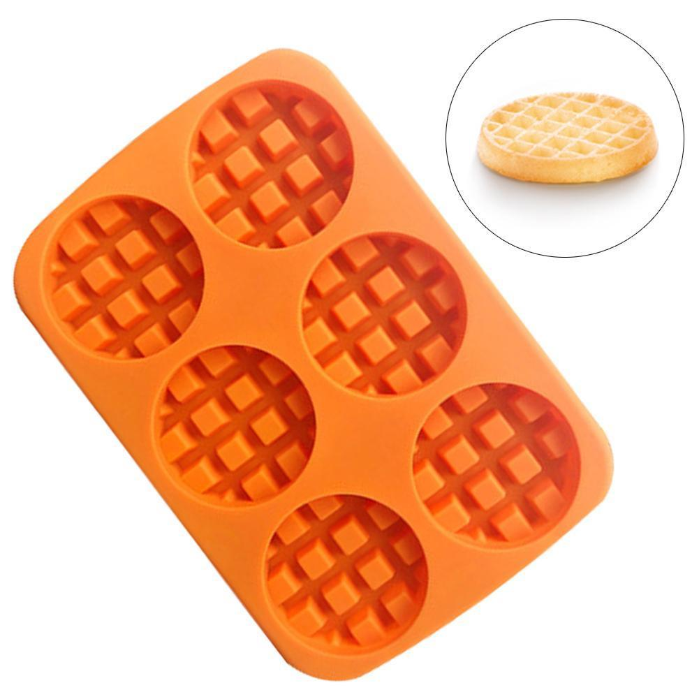 Waffle Makers Silicone Cake Mould Round Bakeware Nonstick Silicone Baking Waffle Muffin Molds Cooking Kitchen Items