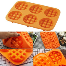 Load image into Gallery viewer, Waffle Makers Silicone Cake Mould Round Bakeware Nonstick Silicone Baking Waffle Muffin Molds Cooking Kitchen Items