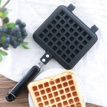 Load image into Gallery viewer, 1 pcs Waffle Mold Aluminum+Teflon Waffle Maker coating Stove Waffle DIY Muffins Mould Bakeware Machine Kitchen Tool