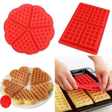 Load image into Gallery viewer, Diniwell Non-stick Silicone Waffle Mold Kitchen Bakeware Cake Mould Makers For Oven High-temperature Baking Set
